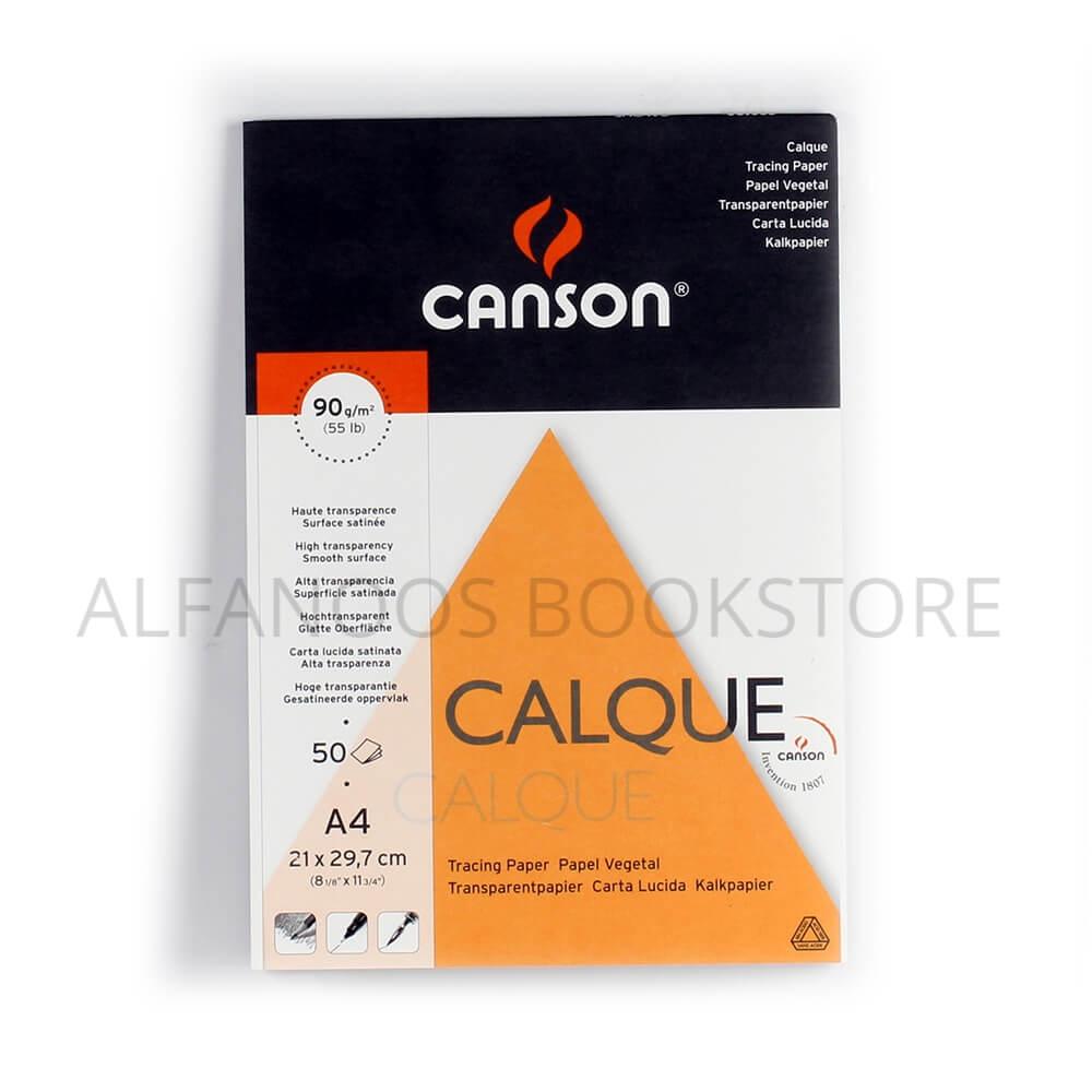 كراسة رسم ورق كلك شفاف Canson A4 Alfanoos
