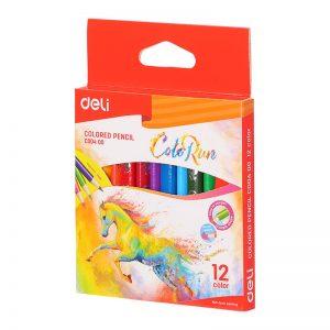 ألوان خشبية قصيرة 12 لون – Deli