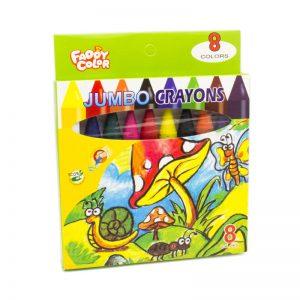 ألوان شمعية جامبو 8 لون – FADDY