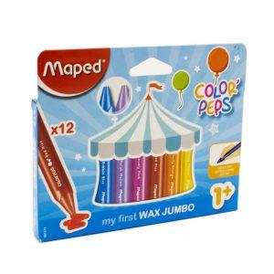 ألوان شمعية جامبو 12 لون Maped