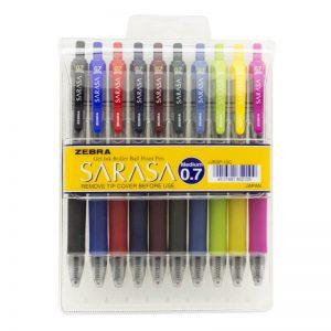 طقم أقلام ساراسا 10 لون 0.7 – ZEBRA