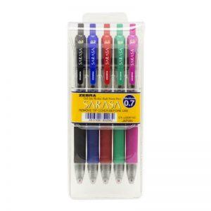 طقم أقلام ساراسا 5 لون 0.7 – ZEBRA