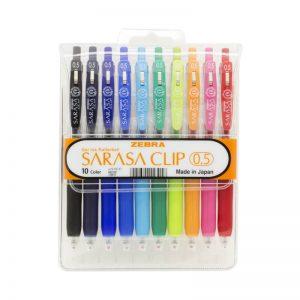 طقم أقلام ساراسا كليب 10 لون 0.5 – ZEBRA
