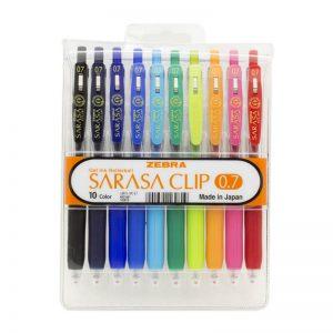 طقم أقلام ساراسا كليب 10 لون 0.7 – ZEBRA