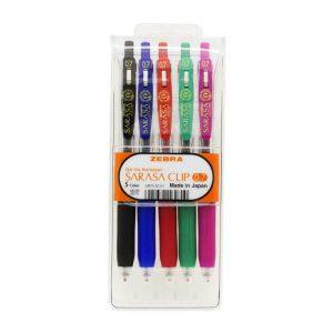 طقم أقلام ساراسا كليب 5 لون 0.5 – ZEBRA