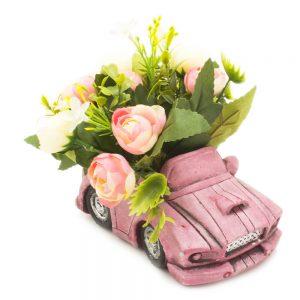 مزهرية ورود شكل سيارة