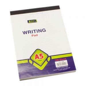 دفتر رسائل مسطر أبيض  100 ورقة SBC – A5