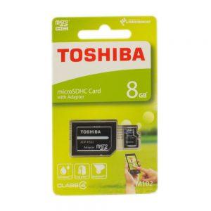 كرت ذاكرة ميكرو إس دي 8 جيجيا – TOSHIBA