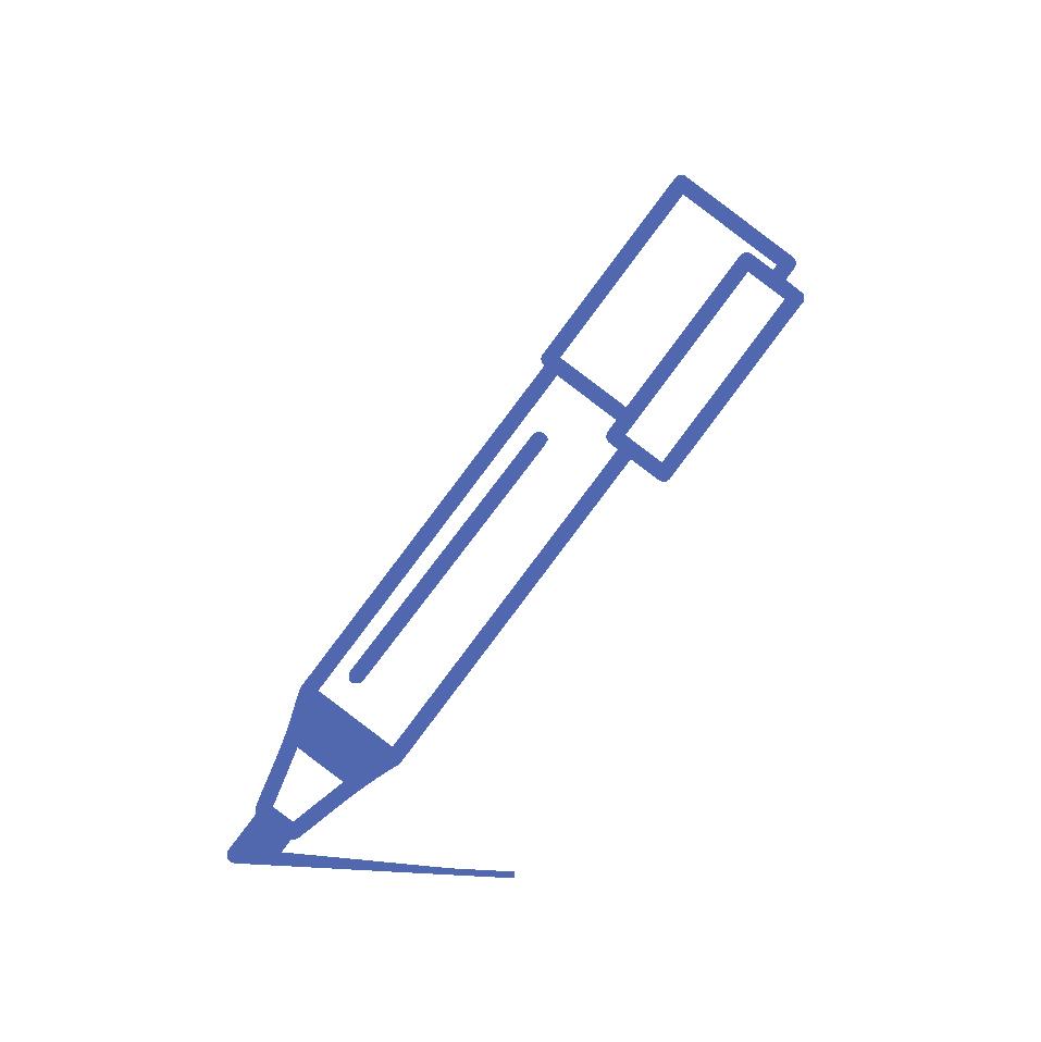 أقلام الماركر والسبورة